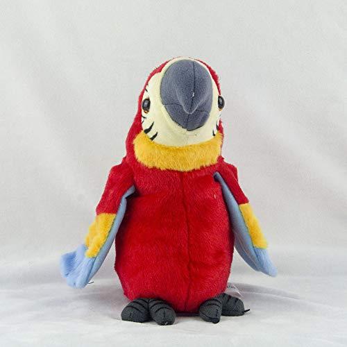 Feeilty - Peluche de loro parlante, 26 cm, juguete loro eléctrico, juguete de guacamayo