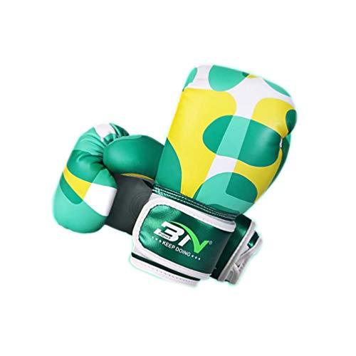 SJYT Boxhandschuhe und Pads setzen MMA Boxsack, für die Ausbildung Mitts Stanzen Sparring-Training Martial Arts Handschuhe und Pads 4 Unzen Kämpfen,Grün