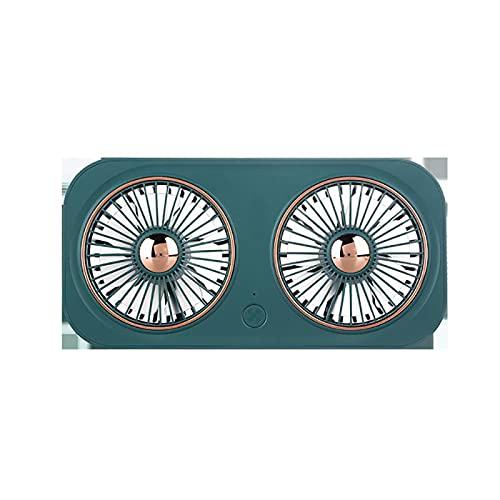 Dyna-Living Ventilador de mesa USB con 3 velocidades, mini ventilador USB portátil, silencioso, ventilador recargable, 5 V, ideal para mesa de oficina, viajes (verde)