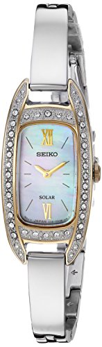 Seiko Women's Jewelry Japanese-Quartz Watch with Stainless-Steel Strap, Silver, 6.4 (Model: SUP388)