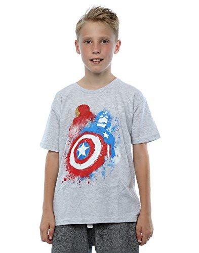 Marvel niños Captain America Civil War Painted vs Iron Man Camiseta 12-13 years cuero gris