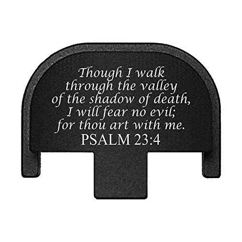 BASTION Laser Engraved Rear Cover Slide Back Plate for Smith & Wesson SD9VE, SD9, SD40VE, SD40. 9mm & .40 Cal - Psalm 23:4