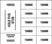 """500 ホワイト中国オークションチケット -""""Hold This Stub"""" OR"""" 購入者名、メール&電話"""" - 25、20、15、10または5の入札番号。 10 Bid numbers per sheet"""