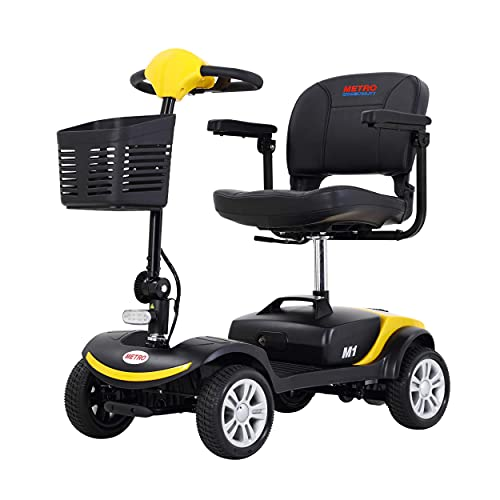4 Wheel Mobility Scooter Electric Powered Wheelchair Device Compact Mobility Scooters for Adults...
