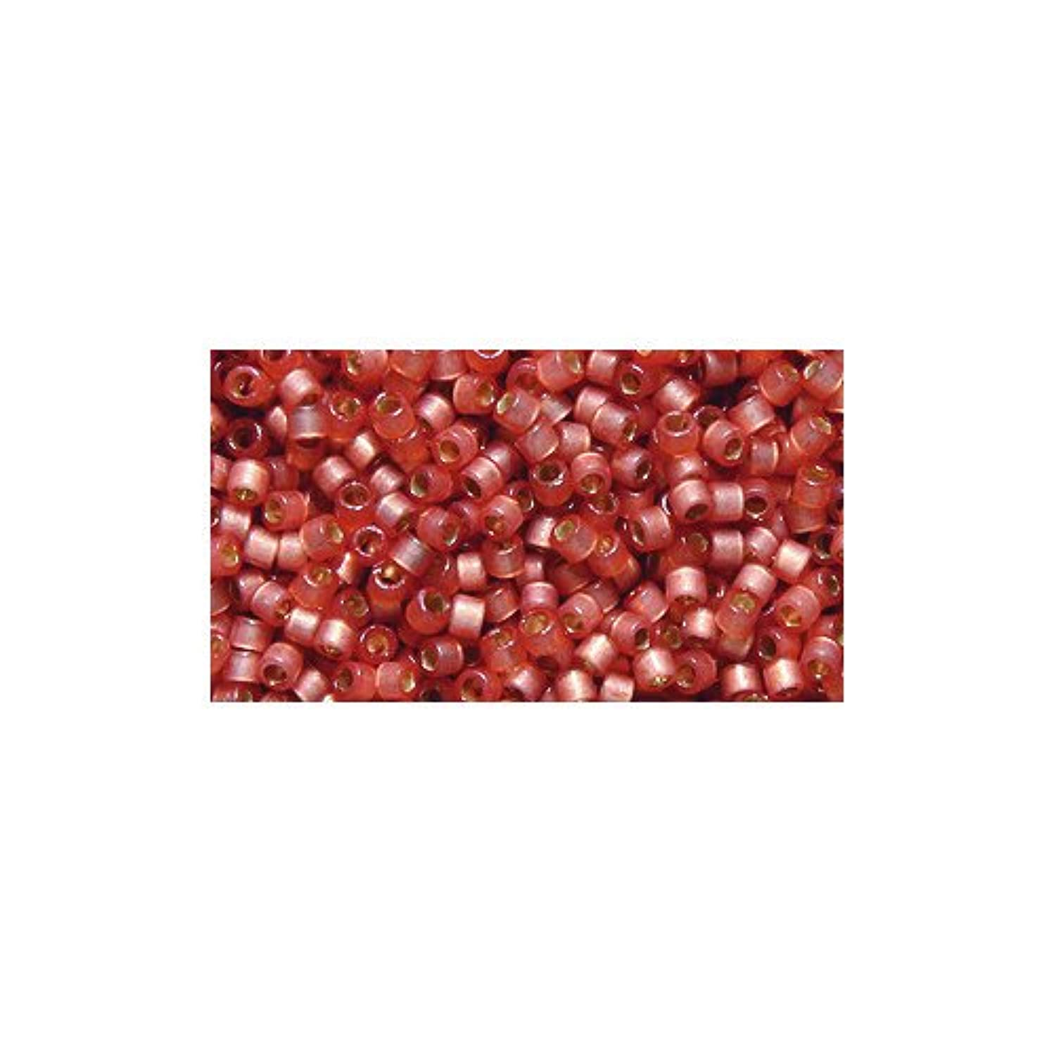Miyuki Delica Seed Bead 11/0 DB2172, Duracoat Silver Lined Rose Copper Satin, 9-Gram/Pack