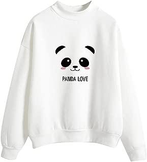 TITAP M-2XL Women Fashion Long Sleeve Panda Printed Sweatshirt Blouse Tops T -Shirt