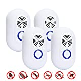 GYHH Mosquito Repellent,ultrasonic Electronic Mosquito Repellent Indoor Mute Multifunctional Mouse Repellent (4 Piezas)