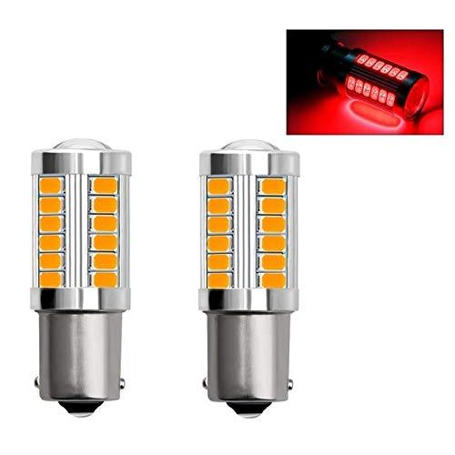Miwaimao 2PCS 1156 LED 33SMD Luz de Reserva de Reserva de Coche Bombilla de Freno de Motor Señal de Giro Luces de circulación Diurna Luz de Motocicleta Luz LED de Coche