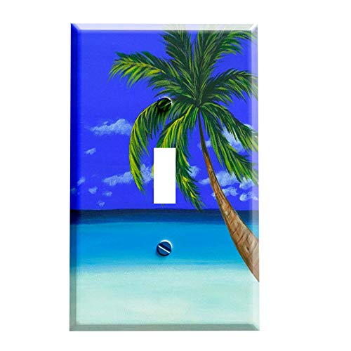 Palm Tree on the Beach Switchplate - Switch Plate Cover