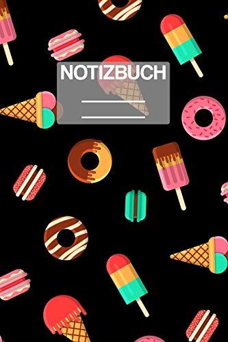 Notizbuch A5 Muster Süssiegkeiten Donuts Eis: • 111 Seiten  • EXTRA Kalender 2020 •  Einzigartig •  Liniert •  Linie •  Linien  • Geschenk • Geschenkidee