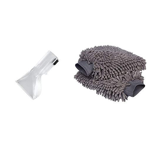 Kärcher 2.885-018.0 Handdüse (geeignet für Waschsauger SE 4001/4002) & AmazonBasics Deluxe Auto-Waschhandschuh, Mikrofaser, 2 Stück