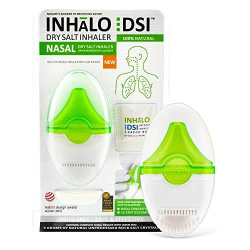 Inhalo DSI Dry Salt Nasal Inhaler Allergy Medication   Salt Therapy to...