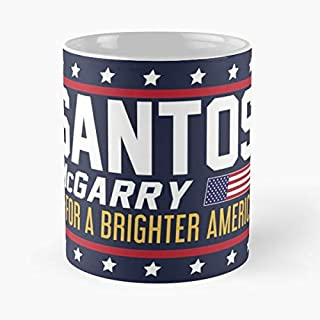 Santos And Mcgarry Campaign Poster From West Wing Classic Mug - 11 Ounces Funny Coffee Gag Gift.the Best Gift For Holidays-miinviet.