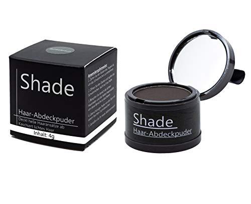 Shade Abdeck-Puder – Hair Line Powder zur Haarverdichtung - Ansatzpuder zum Kaschieren vom Haaransatz - Haarpuder für Haaransätze - wasserfest - (DUNKELBRAUN) 4g