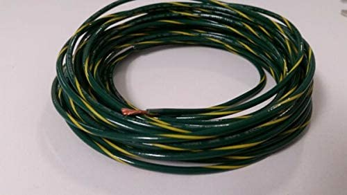 For 16 GAUGE TFFN WIRE GREEN W COPPE YELLOW FEET High New York Mall quality STRIPE 250 600V