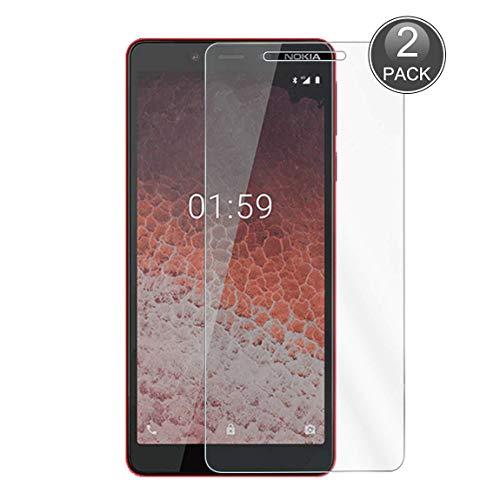 E-Hamii [2-Pack Pellicola Salvaschermo Compatibile con Nokia 1 Plus, 0,26mm HD Anti-graffio e Anti-Impronte Digitali Proteggi Schermo, 9H Calotta di Protezione in Vetro Temperato