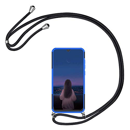 Kesv kompatibel mit HTC Desire 530 630 Handyhülle mit Umhängeband, Handykordel mit Schutzhülle, Silikonhülle, Hülle mit Band, Stylische Kette mit Hülle Smartphone