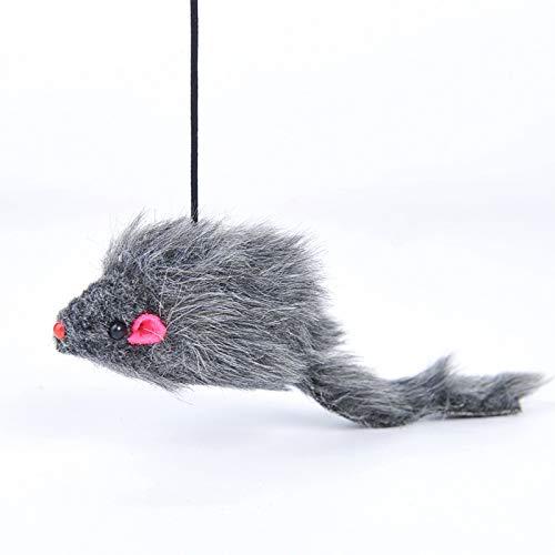 YEEWA Einziehbares Katzenmaus-Spielzeug, interaktives Haustier-Katzenspielzeug, Katzenspielzeug, Teaser und Trainingsgerät für die Katze zum Aufhängen von Tür, Fenster, Katzenkäfig