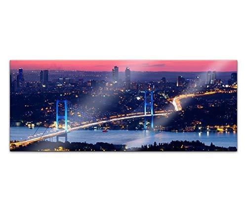 Acrylglasbild 100x40cm Skyline Istanbul Brücke Stadt Türkei Acrylbild Acryl Bild UV Druck Acrylglas Acrylglasbilder 14G333