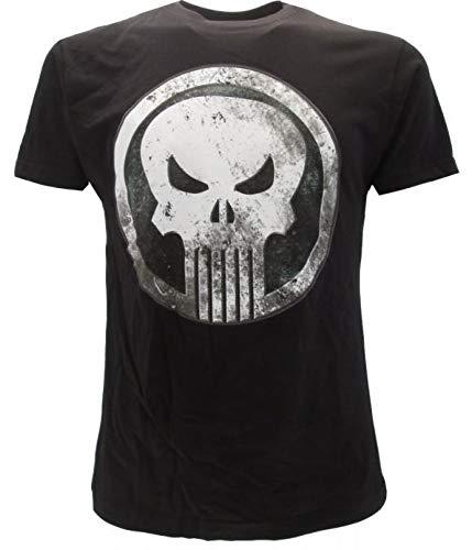T-Shirt The Punisher Originale Nera Serie Netflix Marvel Prodotto Ufficiale Maglia Maglietta (XXL)