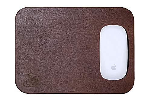 Centaur Mouse-Pad 25x18 cm handgefertigt in Deutschland Mauspad aus Leder Ecken abgerundet rutschfest nussbraun weitere Farben