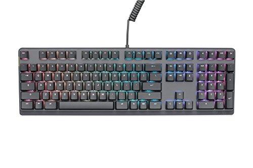 Mionix Wei Mechanische Tastatur (US-Layout–PC und MacOS–Cherry MX Schalterprogramm rot–RGB Hintergrundbeleuchtung (schwarz/grau)