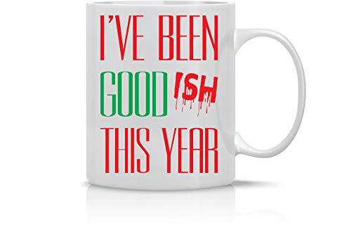 He sido bueno este año Taza divertida de Feliz Navidad Taza de café de 11 oz Tazas navideñas Taza linda de Navidad Taza divertida de Navidad Regalo perfecto para las fiestas de AW Fashions