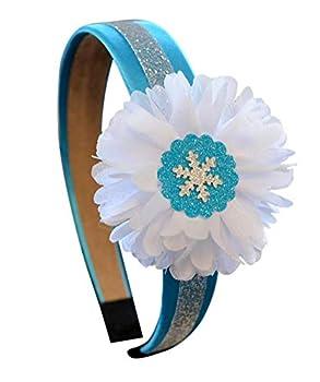 Sparkling Satin Flower with Snowflake Arch Costume Headband  Snowflake