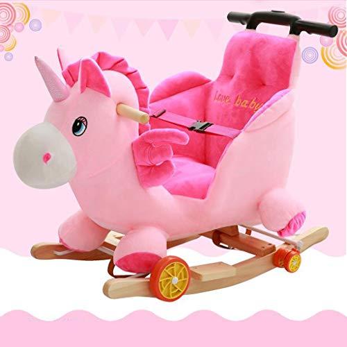 ZJING Das hölzerne Pferdeschaukelpferd der Einhornkinder  Spielzeug