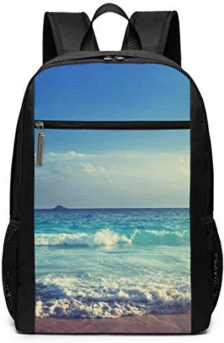 Borsa del portatile Laptop Backpack Seychelles Beach Business Travel Computer Bag for Women and Men College School Backpack Fits in Laptop Notebook bookbag
