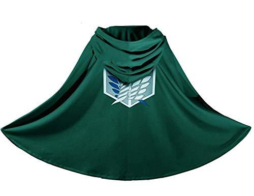 IUTOYYE L'Attack Costume de Carnaval Cosplay Déguisement Cape Cloak Déguisement pour Ados Adulte Enfant (S: 152~165 cm)