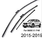 XIANGSHAN LHD limpiaparabrisas Delanteros y Traseros rasquetas Set for BMW X1 F48 2015-2020 2019 2018 2017 2016 Parabrisas Parabrisas 26'16' 14' by