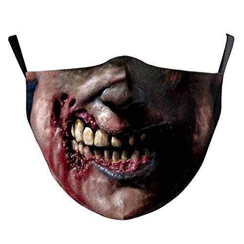 (H) おもしろマスク 面白い 変顔マスク 洗える 布 大人用 Mサイズ モンスター ゾンビ 殺人鬼 皮膚 変装 ハロウィン 仮装 被り物 コスプレ 衣装 パーティーグッズ おもしろ雑貨