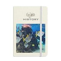 海洋魚の科学は自然の写真 歴史ノートクラシックジャーナル日記A 5