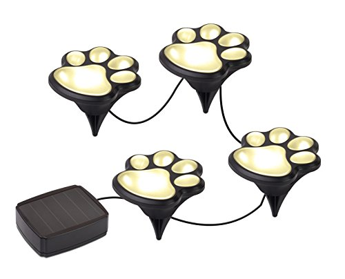 Solar Decorative Paw Print Garden Lights