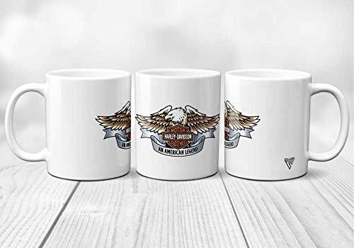 Tazza in ceramica per Harley Davidson an American Legend, stampata in Francia