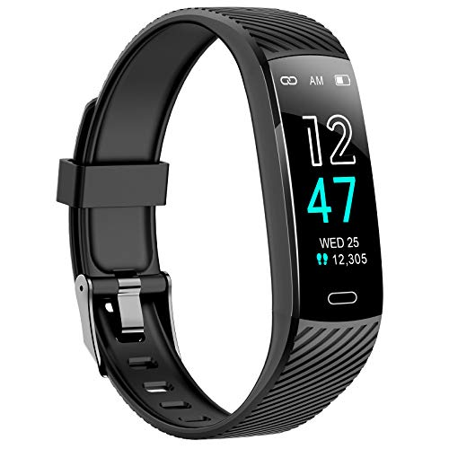 Fitness Tracker - Activity Tracker Watch with Heart Rate and Sleep Monitor, Waterproof Watch with Alarm Clock, Calorie Step Counter, Pedometer Health Tracker for Girls Boys Teens, Best Kids Gift