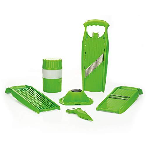 Börner Reiben-Set Spezial in grün - Küchenhelfer - Entsafter - Schäler - Grater