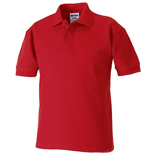 Jerzees Kids Pique Polo Shirt 11-12 Classic Red