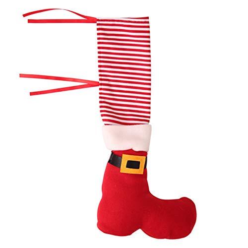 Calcetines de Pierna de Silla de Navidad, Cubierta de pie de Silla de Navidad Divertida DIY, Calceti