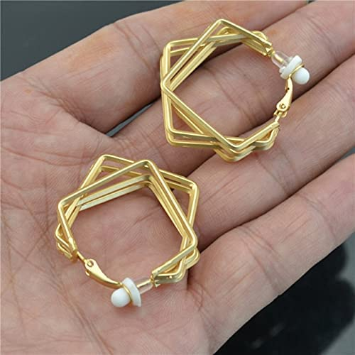 Clip on The Ears Hoop Earrings for Women Non Pierced 2021 Fashion Jewelry Small Lovely Elegant Personality Style Ladies earings