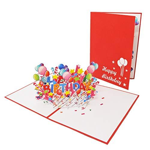 Favour Pop Up biglietto di auguri per compleanno. Un'opera d'arte in filigrana, che si apre...