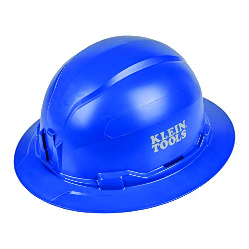 Klein Tools Hard Hat, Vented, Full Brim Style, Padded, Self-Wicking Odor-Resistant Sweatband