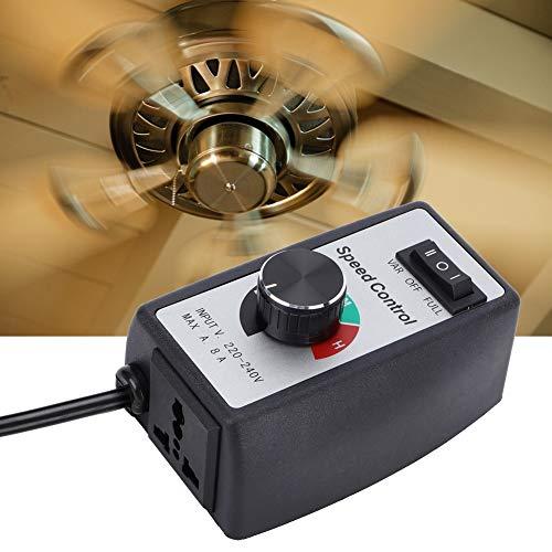 Jadpes snelheidsregelaar voor kanaalventilator, universele elektronische traploze regelaar, schakelregelaar voor motorblazer, kanaalventilator EU 230 V voor verlichting, ventilator, elektrisch gereedschap, massageapparaten