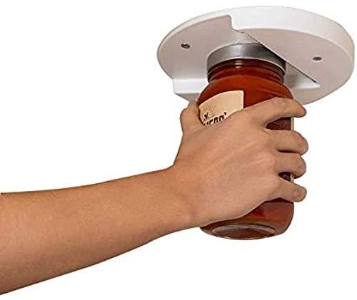 YANGYOU Can Opener The Grip Jar Opener, Easy Kitchen Tool Can Opener Cap Opener Bottle Opener Perfect for Arthritis, Weak Hands, and Seniors
