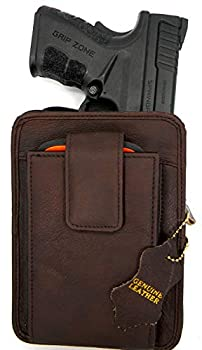 Roma Leathers Belt Pistol Concealed Carry Pack  Brown 5.5  X 4.5 x 1.5