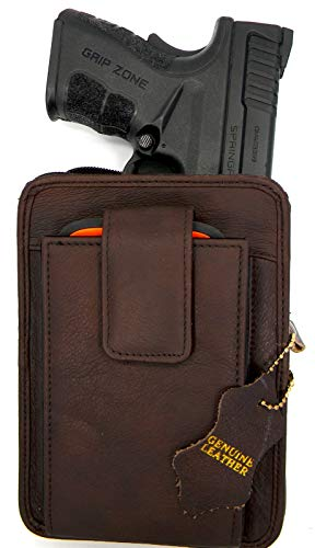 Roma Leathers Belt Pistol Concealed Carry Pack (Brown, 5.5'...