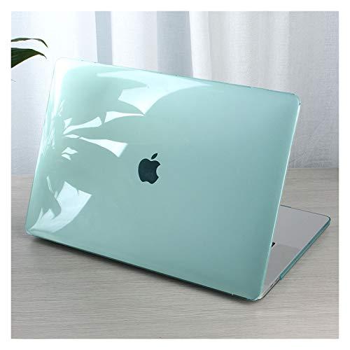 Caja De Plástico De Cristal para Computadora Portátil para MacBook Pro 13 para MacBook Pro 15 16 A2289 A2251 A1706 A1989 A1707 A2159 (Color : Green, Size : Pro 13 A1708)