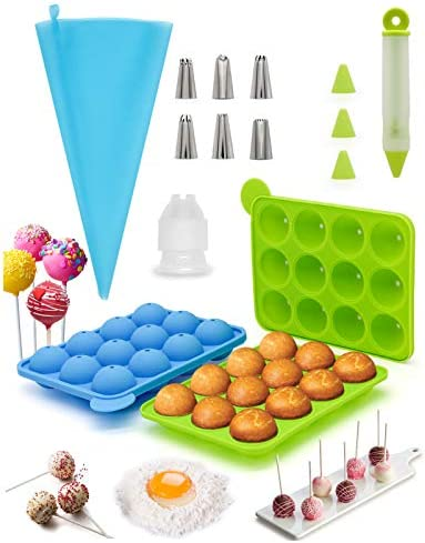 cake pop mold set Cake Pop Silicone Molds For Baking Cakepopsical Pan Moldes Lollipop Make Set product image