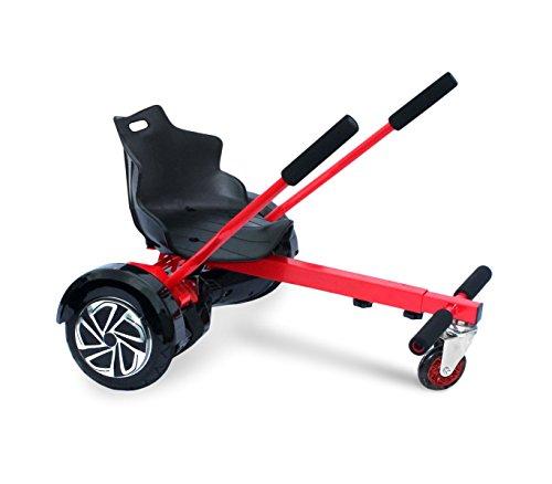 Mediawave Store Sediolino Adattabile per Hoverboard Regolabile da 6,5 a 10 Pollici Go-Kart. (Rosso)